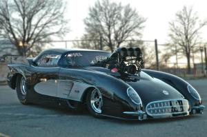 T&F Drag Racing NHRA Pro Mod Corvette Car