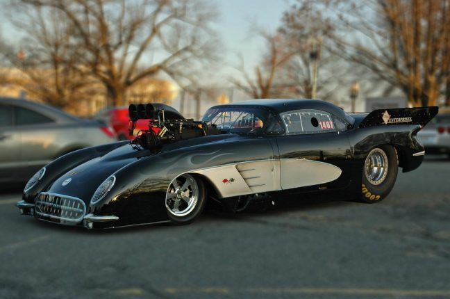 1953 corvette chevrolet racing pro mod dragster
